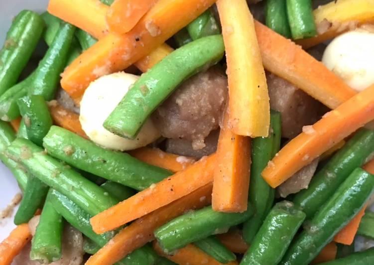 Tumis buncis dan wortel