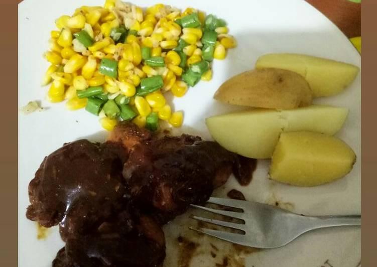 Steak Ayam (menu diet sehat)