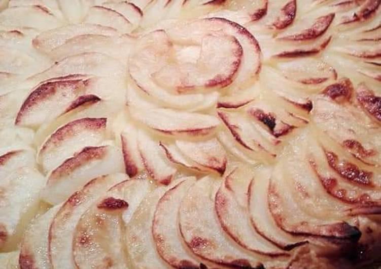 Recette Des Tarte fine rapide aux pommes 🍏