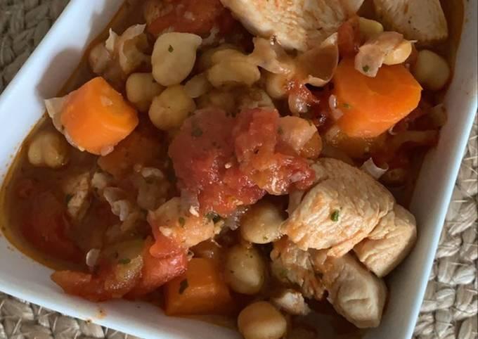 Poulet à la marocaine au Cookeo