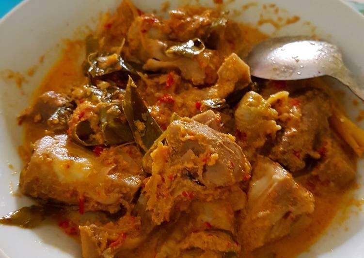 Gulai ayam dan nangka