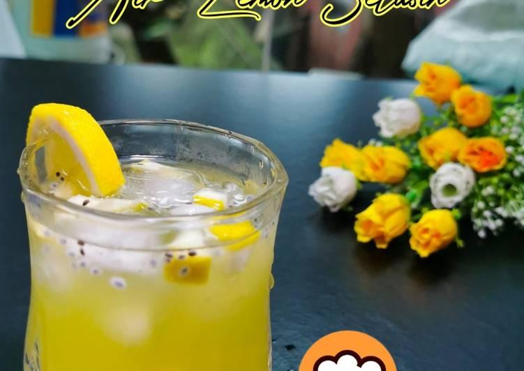 Air Lemon Selasih - resepipouler.com