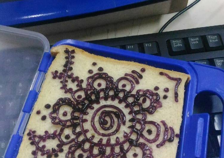 Resep Roti selai blueberry jelly Paling Enak