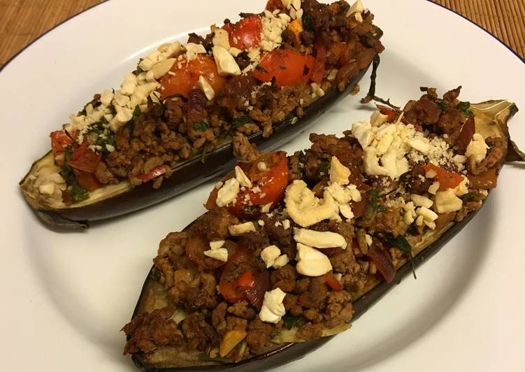 Step-by-Step Guide to Make Any-night-of-the-week Turkish stuffed aubergines with beef and tomatoes (Karniyarik) 🇹🇷