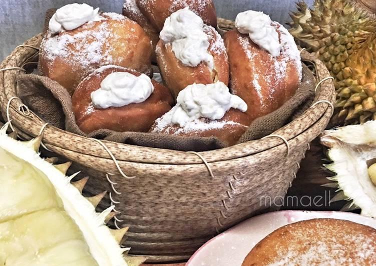 Resepi:  Donut Durian  Enak
