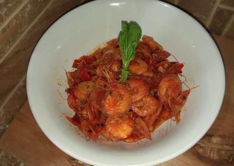 Udang asam manis pedas (baby udang) - cookandrecipe.com