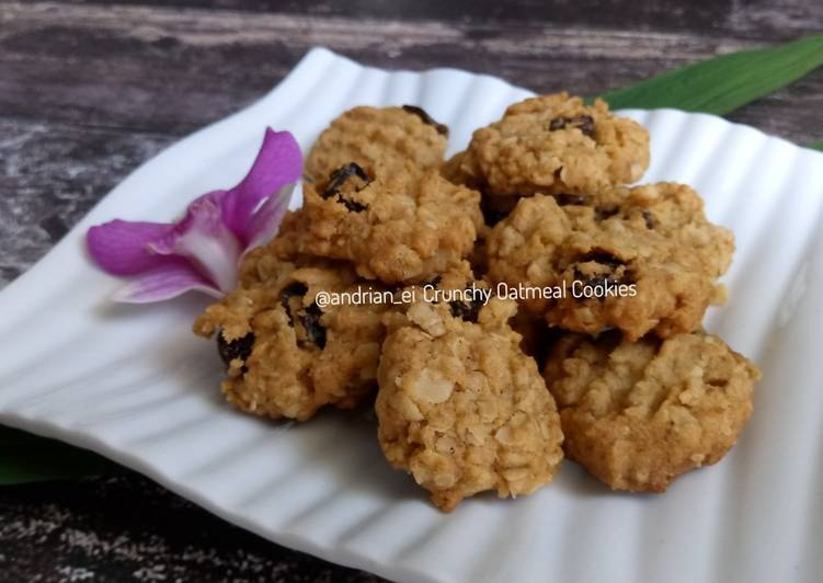 Crunchy Oatmeal Cookies #day24