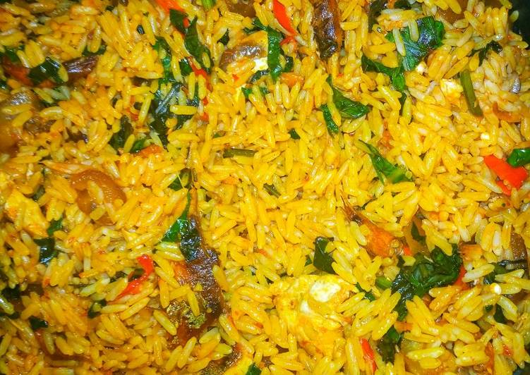 Absolutely Ultimate Dinner Easy Summer NATIVE JOLLOF RICE /PALM OIL RICE - IWUK EDESI RECIPE