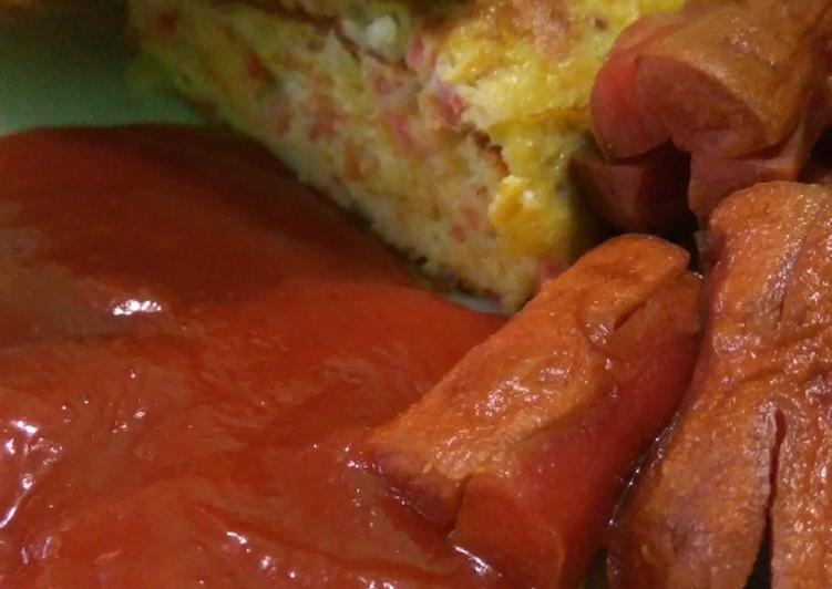 Resep Omelette hotel / telur dadar hotel Terenak