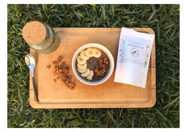 Porridge chocolat banane
