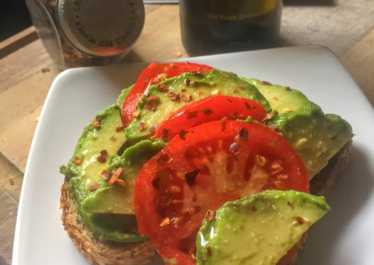 Crushed Red Pepper, Tomato & Avocado Toast