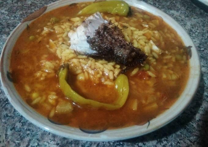 Soupe de riz et poissons
