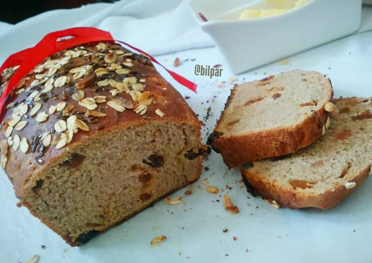 Recipe: Delicious Breakfast Bread with dry fruits and tutty fruity
