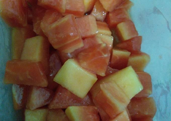 Pepaya jeruk nipis dingin