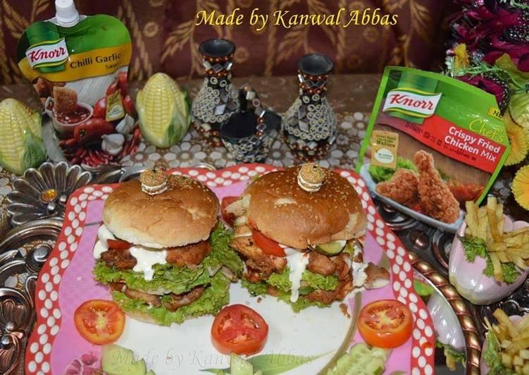 Crispy Chicken Burgers #ramadankitayari