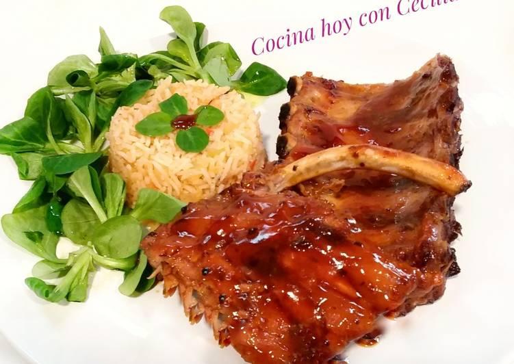 Costillas De Cerdo Al Horno Con Salsa Barbacoa Receta De