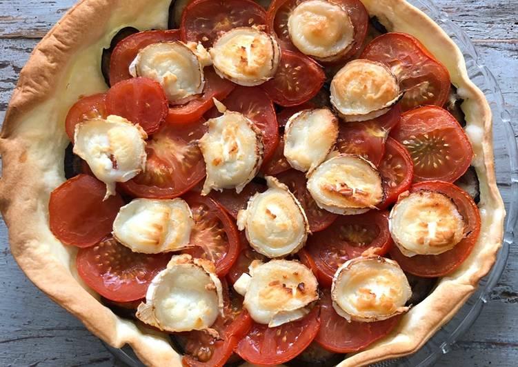 Recette Des Tarte aux aubergines, tomates et chèvre
