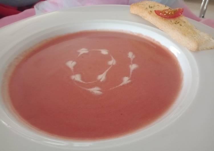 Cream of beet soup