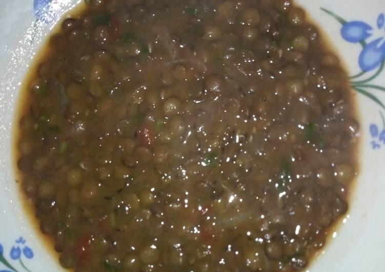 Steps to Make Homemade Lentils stew #authormarathon# #4weekschallenge#