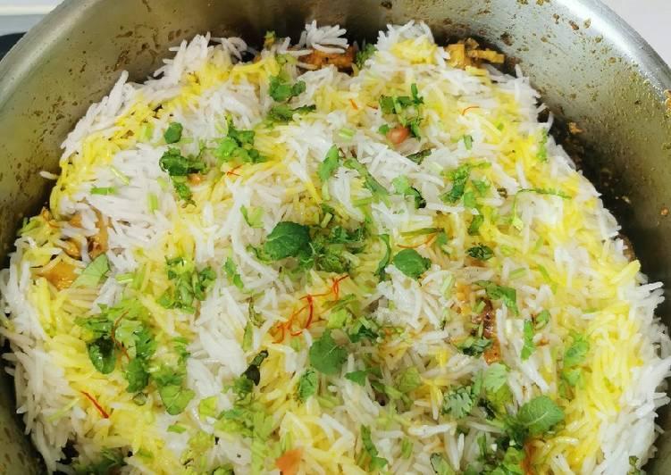 Saffron Dum chicken Briyani