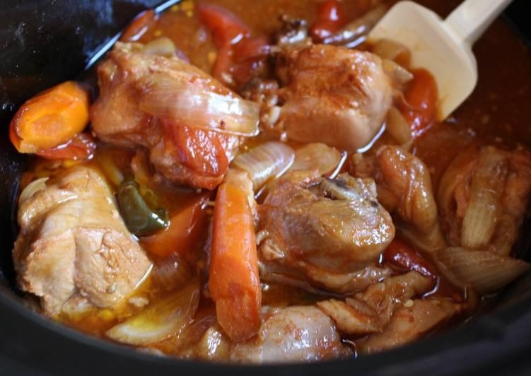Slow Cooker Korean Style Spicy Soy Sauce Chicken