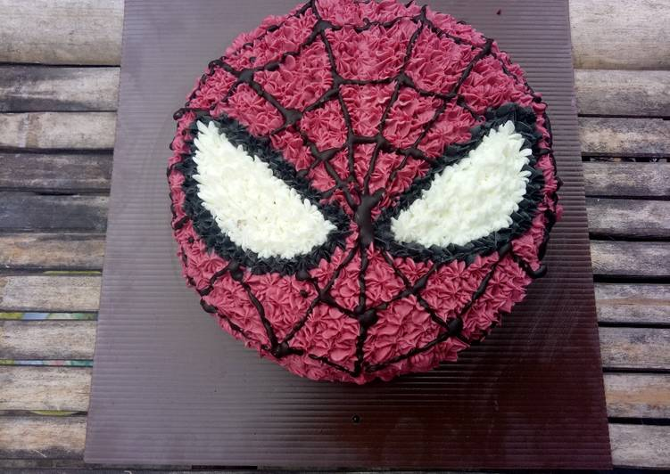 Resep Kue Ulang Tahun Karakter Spiderman Base Red Velvet Cake Oleh Indah Soviyana Cookpad