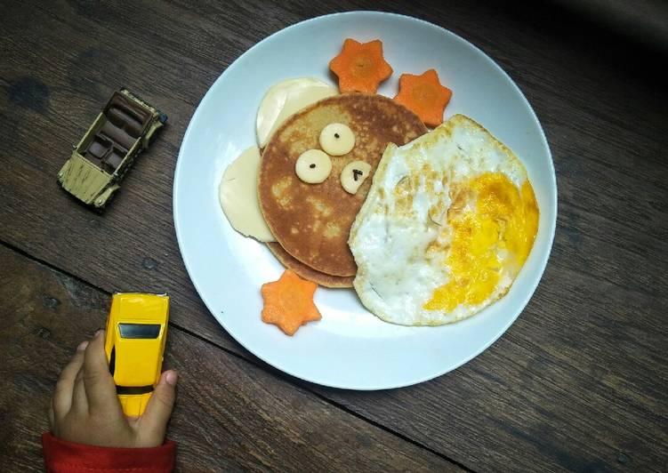 Resep Pancake karakter (menu anak) Paling Enak