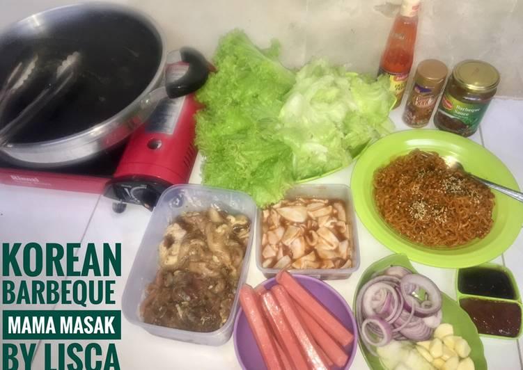 Resep Korean Barbeque Homemade Oleh Mama Masak By Lisca Cookpad