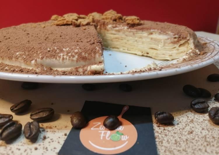 Recette Savoureux 🥞Gâteau de crêpes Tiramisu