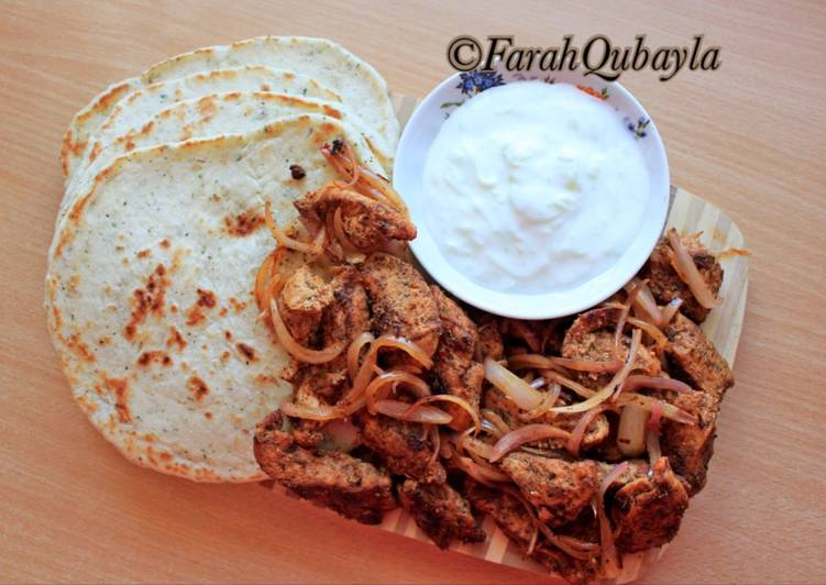 Resep Greek Chicken Gyro With Tzatziki Sauce Oleh Farah Qubayla Cookpad