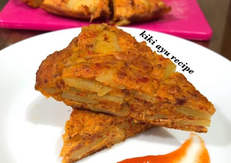 Resep Spanish Omelette ala Mama (Telur Dadar Kentang Khas Spanyol ala Mama) Paling Enak
