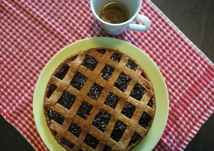Crostata integrale ai frutti di bosco (del mio orto)