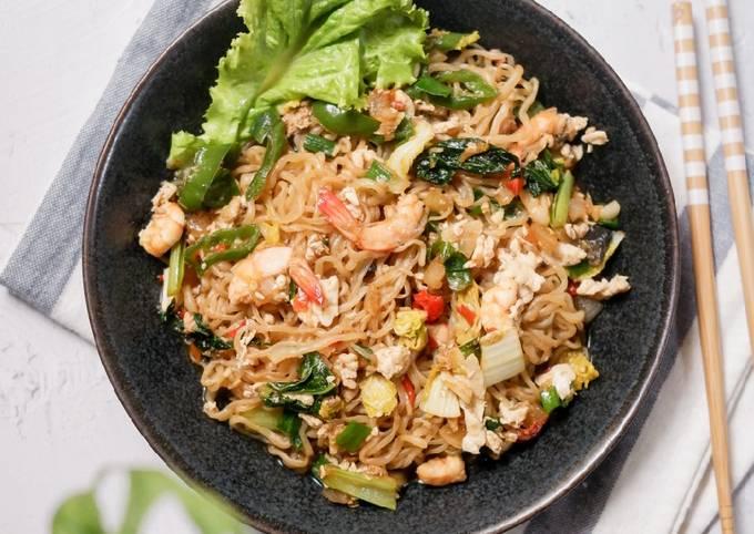 MIE SHIRATAKI SEAFOOD - Rendah Kalori, Keto Friendly