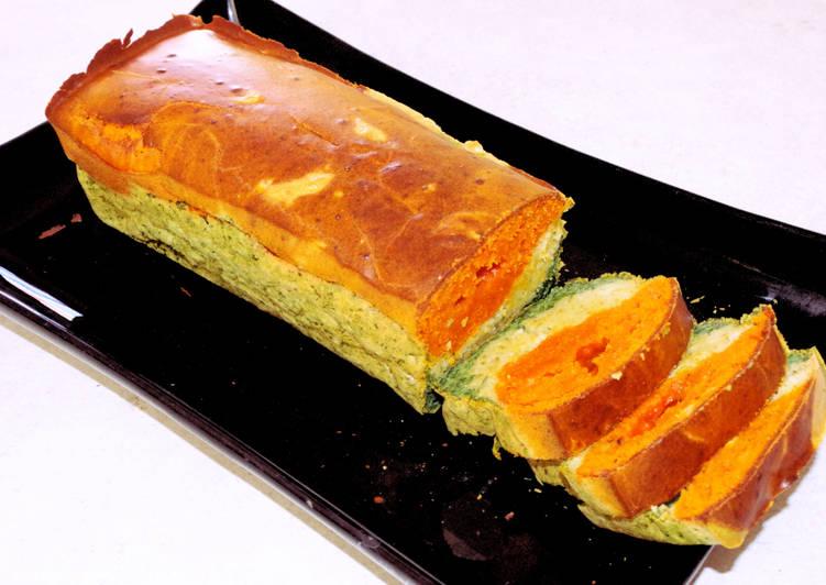 recette Cake tricolore tomates, olives et épinards délicieux