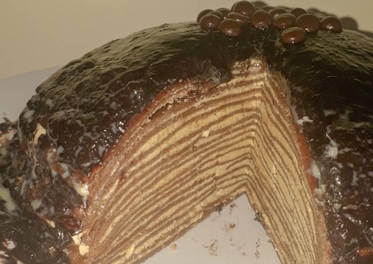 Cara Membuat Membuat Lezat Tiramisu Mille Crepes (low budget) 💸