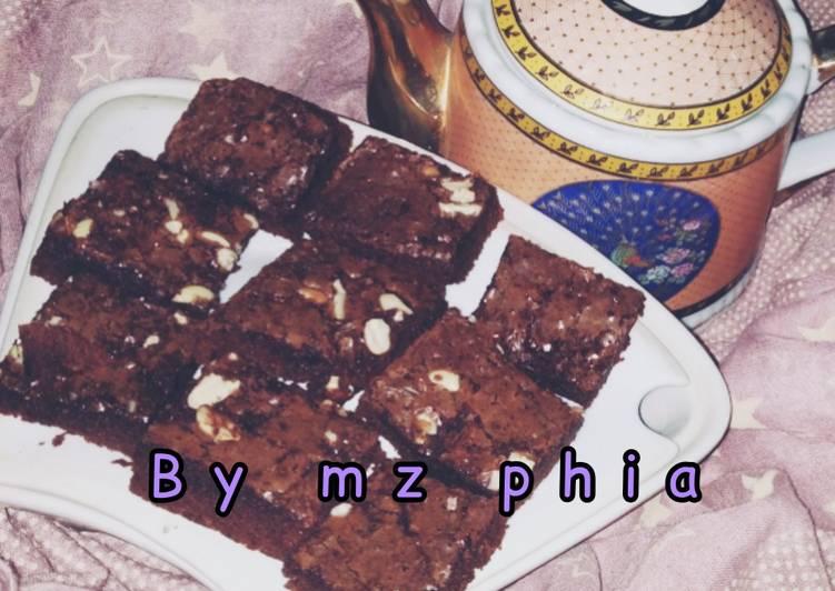 Langkah Mudah untuk Menyiapkan Fudgy shiny brownies Anti Gagal