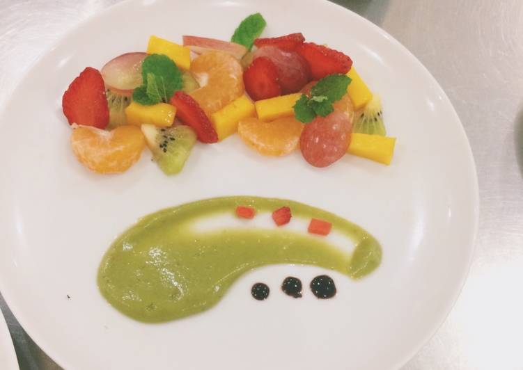 Resep Fruit Salad Salad Buah With Saus Alpukat Oleh Sheilamita Cookpad