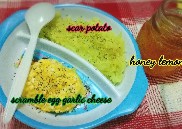 Resep Sarapan untuk si kecil yang batuk dan flu (menu batita 1y+) Bikin Laper
