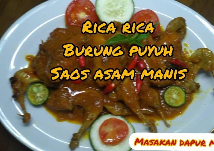 Resep RICA-RICA BURUNG PUYUH SAOS ASAM MANIS