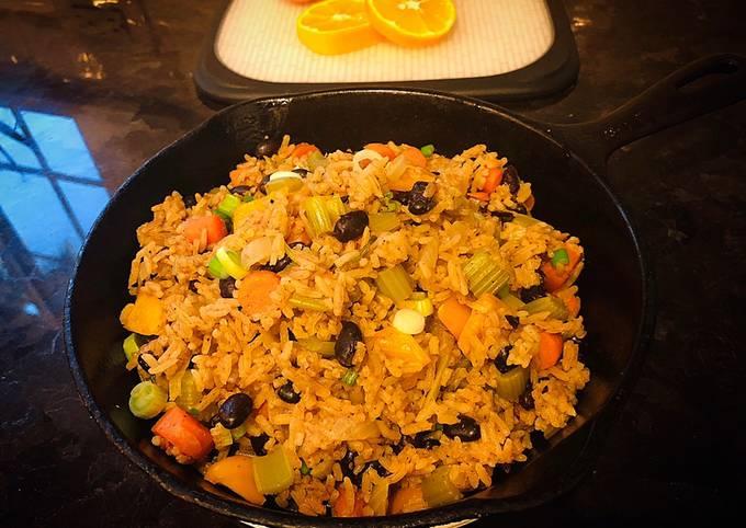 One Pot Vegetarian Jambalaya Rice
