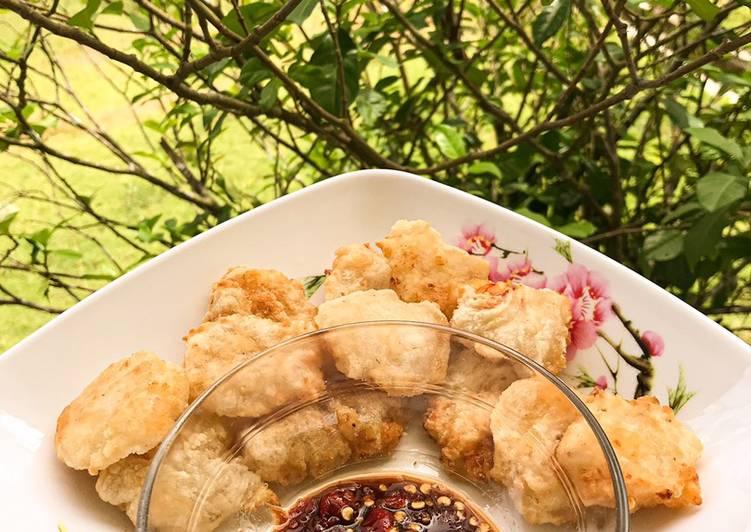 Cireng Udang Sambel Rujak