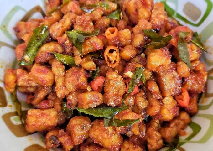 sambel goreng tempe daun jeruk - resepenakbgt.com