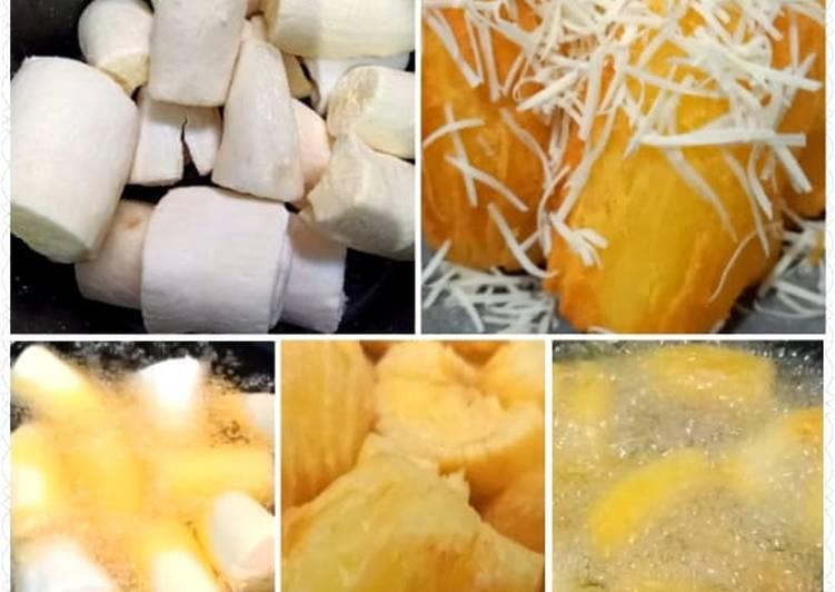763. Singkong Goreng Keju Merekah || Frozen Cassava