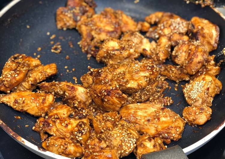 Recipe: Delicious Miso and sesame chicken