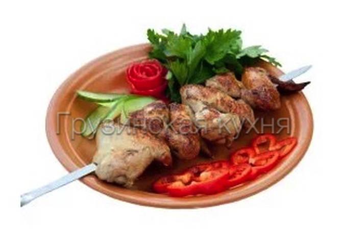 Шашлык из куриных крылышек - грузинская кухня