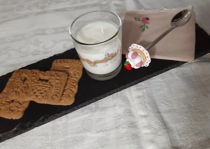 Verrine yaourt speculoos ❤
