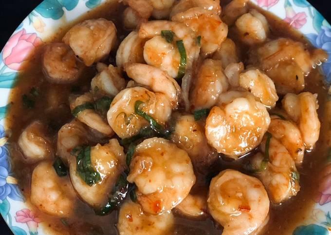 Udang Saus Madu / Honey Glazed Shrimp (menu mudah untuk sahur atau buka puasa)