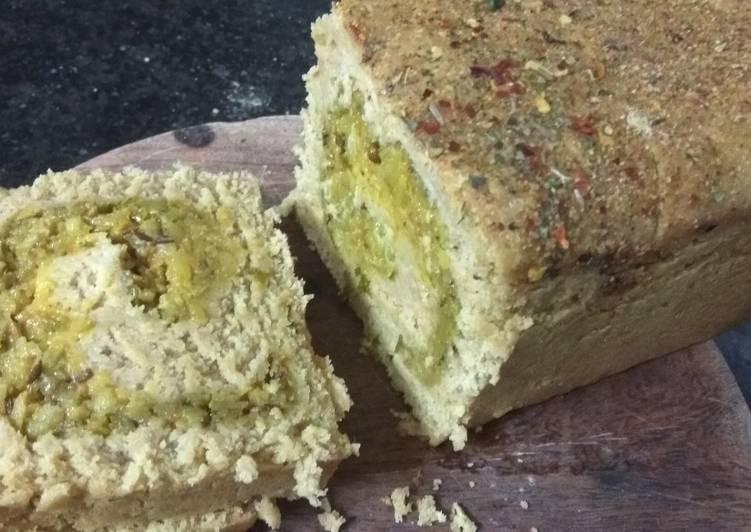 Simple Way to Make Speedy Stuffed Potatoes Wheat Flour Bread No Yeast No Oven
