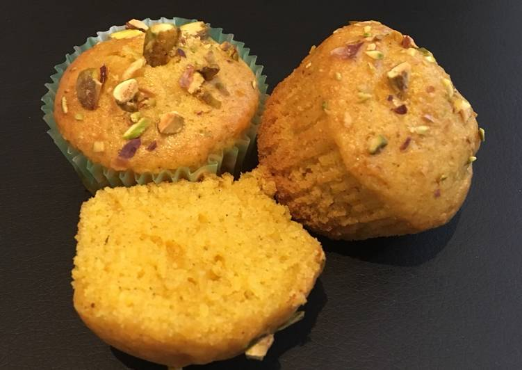 Step-by-Step Guide to Make Favorite Eggless Mango Pistachios Muffins