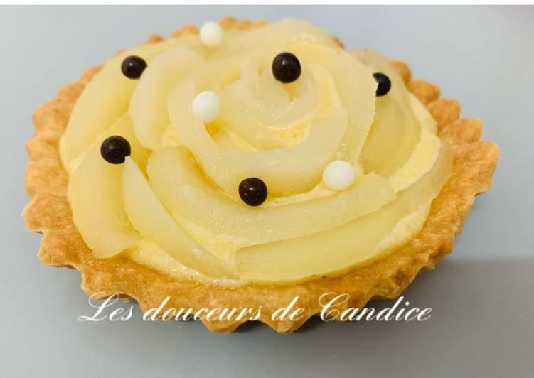 Recette Délicieuse Tartelettes aux poires et crème de noisettes
